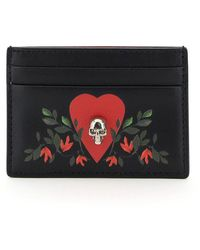 Alexander McQueen Leaf Leather Card Holder - Multicolour