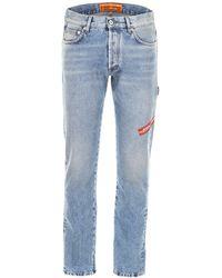 Heron Preston - Logo Embroidered Straight-leg Jeans - Lyst