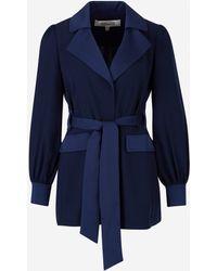 Diane von Furstenberg Stassie Tie-waist Jacket - Blue