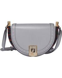 Fendi Moonlight Satchel Bag - Grey