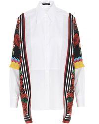 Dolce & Gabbana - Contrast Print Panelled Shirt - Lyst