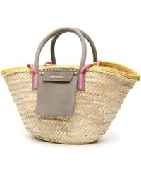 Jacquemus Le Panier Soleil Straw Tote Bag - Natural