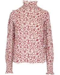 Étoile Isabel Marant Catchelae Printed Blouse - Red
