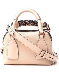 Chloé Small Daria Top Handle Bag - Natural