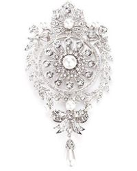 Givenchy Filigree Studded Brooch - Metallic