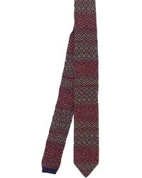 Missoni Patterned Knitted Tie - Purple