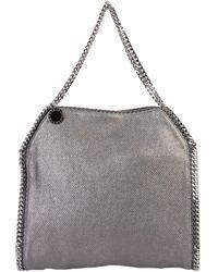 Stella McCartney Falabella Silver Chain Tote - Grey