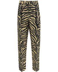 Khaite Magdeline Zebra Print Trousers - Multicolour