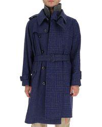 Sacai Deconstructed Panelled Coat - Blue