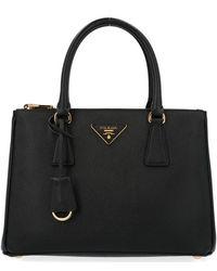 Prada Galleria Small Tote Bag - Black