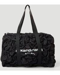 Alexander Wang Rebound Ruched Duffel Bag - Black