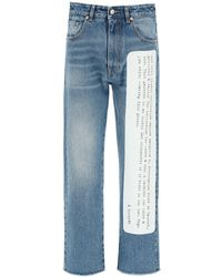 MM6 by Maison Martin Margiela Archive Print Denim Jeans - Blue