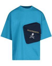 MASTERMIND WORLD Zipped Pocket T-shirt - Blue