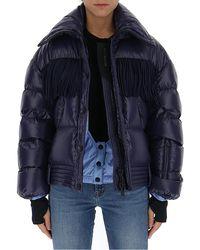 3 MONCLER GRENOBLE Fringed Puffer Jacket - Blue