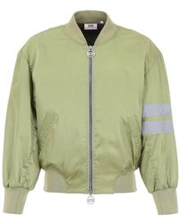 Gcds Logo Embroidered Bomber Jacket - Green