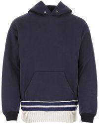 Maison Margiela Hooded Sweatshirt - Blue