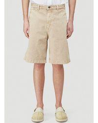 Jacquemus Male Beige Le Short De Nimes Pants - Natural
