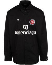 Balenciaga Soccer Sponser Logo Shirt - Black