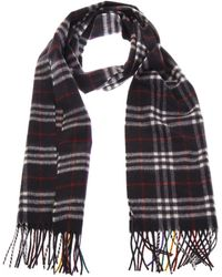 Burberry - Checked Cashmere Scarf - Lyst