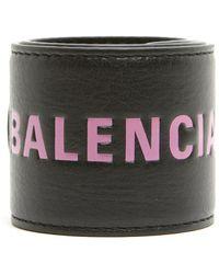 Balenciaga - Branded Cuff Bracelet - Lyst