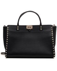 Valentino Garavani Garavani Rockstud Top Handle Bag - Black