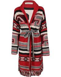 Golden Goose Deluxe Brand - Intarsia Knitted Coatigan - Lyst