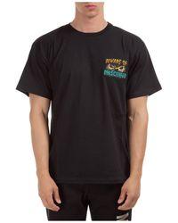 Moschino Men's Short Sleeve T-shirt Crew Neckline Sweater - Black