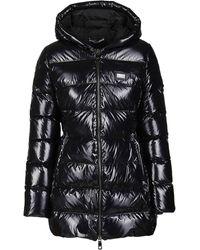 Dolce & Gabbana Hooded Down Coat - Black