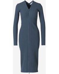 PROENZA SCHOULER WHITE LABEL Ribbed Maxi Dress - Blue