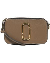 Marc Jacobs The Logo Strap Snapshot Crossbody Bag - Brown