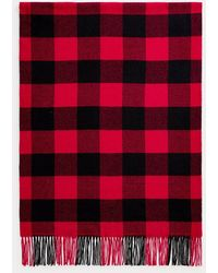 Polo Ralph Lauren Polo Ralph Plaid Knitted Scarf - Red