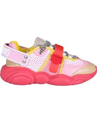 Moschino Roller Skates Teddy Lace-up Trainers - Pink