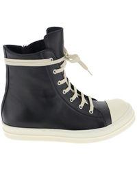 Rick Owens Phlegethon High-top Sneakers - Black