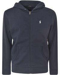 Polo Ralph Lauren Blue Cotton Blend Sweatshirt