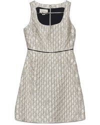 Gucci All Over Logo Jacquard Dress - Metallic