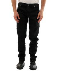 Balmain Side Stripe Jeans - Black