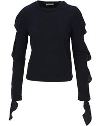 JW Anderson Ruffled Sleeve Top - Blue
