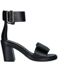 Comme des Garçons Ankle Strap Bow Sandals - Black