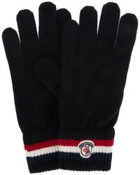Moncler Logo Patch Gloves - Black