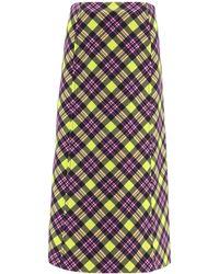 Prada Checked Midi Skirt - Multicolour