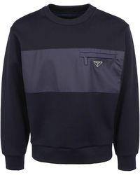 Prada Logo Sweatshirt - Blue