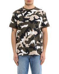 Valentino Camouflage Print T-shirt - Multicolour