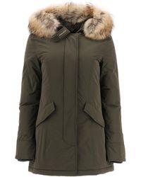 Woolrich Luxury Arctic Parka With Murmasky Fur M Technical,fur - Green