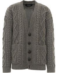DSquared² Cable-knit Cardigan - Gray