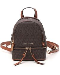 MICHAEL Michael Kors Rhea Mini Logo Backpack - Brown