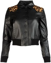Miu Miu Black Nappa Leather Jacket Nd