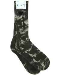 Off-White c/o Virgil Abloh Two-tone Stretch Cotton Blend Socks Uomo - Green