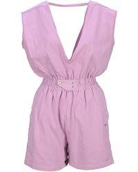 Rick Owens DRKSHDW V-neck Sleeveless Playsuit - Pink