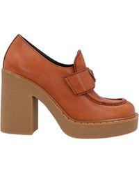 Prada Logo Plaque Platform Loafers - Brown