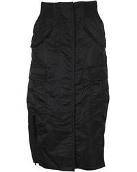 Sacai Side-slit Cargo Midi Skirt - Black